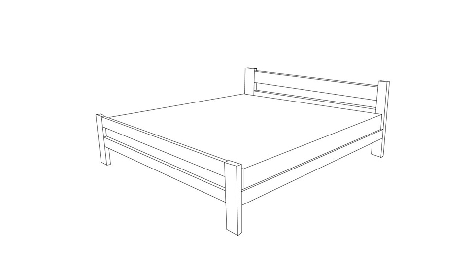 wooden bed excellent